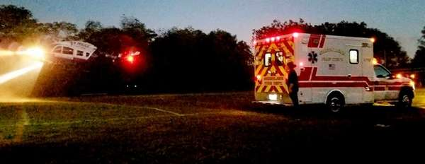 A Northport Middle School football player was airlifted