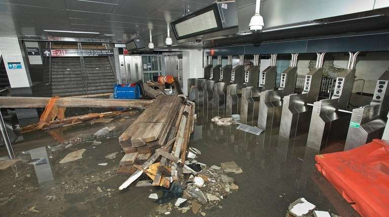 Employees from MTA New York City Transit worked