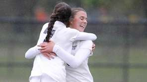 Northport's Stephanie Rapp (26) celebrates her goal with