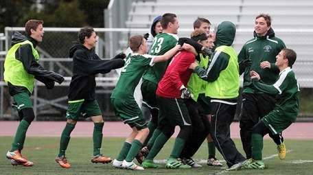 The Harborfields' bench runs out onto the field