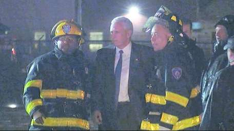 Republican vice-presidential nominee Mike Pence was not hurt