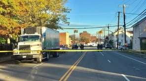 Police respond to the Hempstead intersection where a