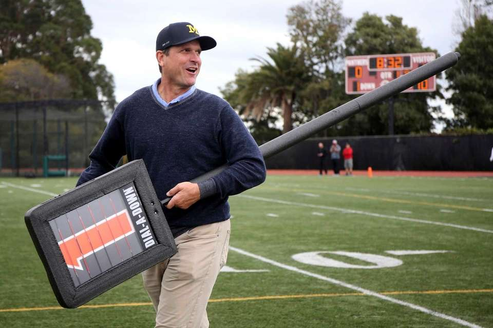 Harbaugh still finds a way to have fun