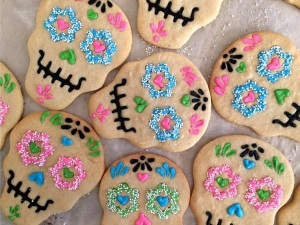 Sugar skull cookies are a Halloween special at