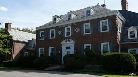 Bush Brown Hall is a red brick mansion