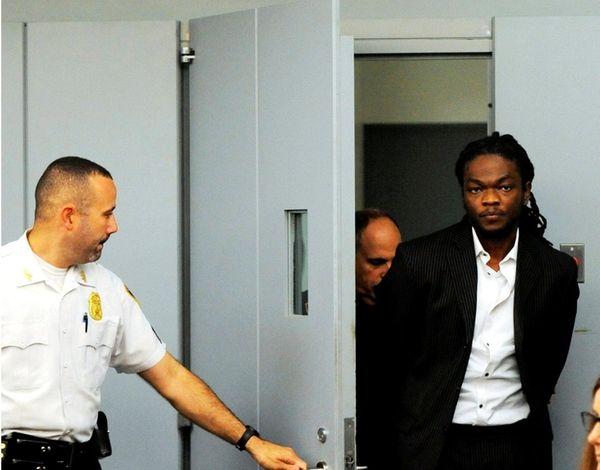 Oniel Sharpe Jr., inside Judge Fernando Camacho's courtroom
