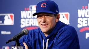 Chicago Cubs' Game 3 starting pitcher Kyle Hendricks