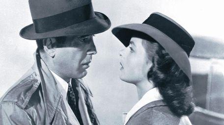 Humphrey Bogart and Ingrid Bergman in