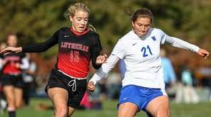 Long Island Lutheran's Natalie Ferretti is unable to