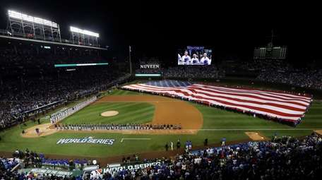 Wrigley Field hosted its first World Series game