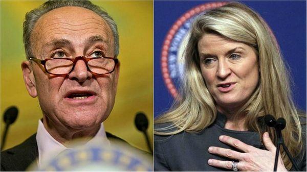 Sen. Chuck Schumer (D-N.Y.) faces Republican challenger Wendy