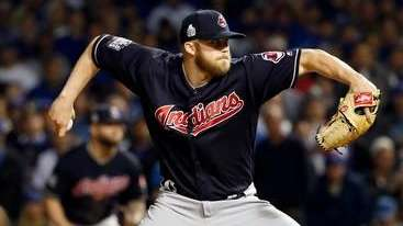 Cleveland Indians relief pitcher Cody Allen throws during