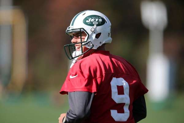 New York Jets quarterback Bryce Petty smiles during