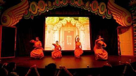 Members of the Srjian Dance Center perform during
