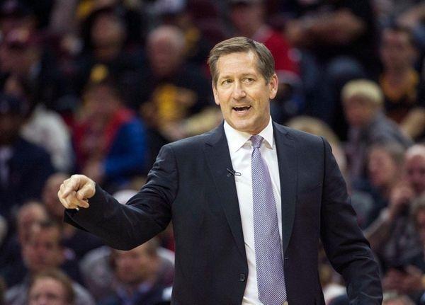 New York Knicks' head coach Jeff Hornacek directs