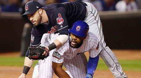 Cleveland Indians second baseman Jason Kipnis lands on