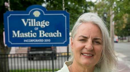 Mastic Beach Mayor Maura Spery outside her office