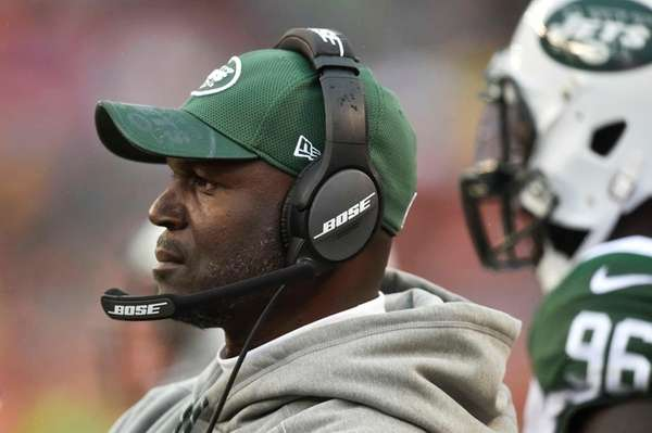 New York Jets head coach Todd Bowles works