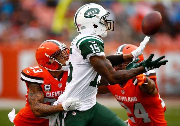 Brandon Marshall of the New York Jets can't