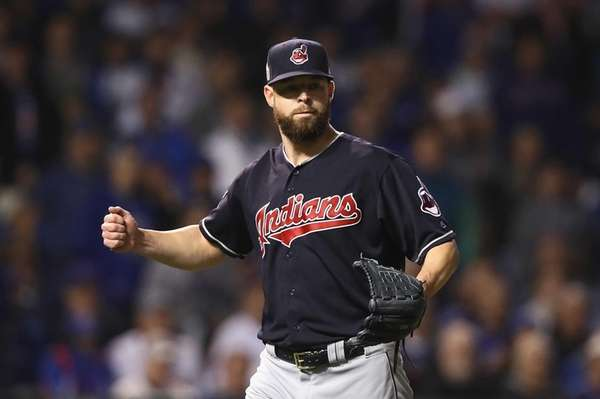 CHICAGO, IL - OCTOBER 29: Corey Kluber #28