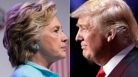 Democratic presidential nominee Hillary Clinton and Republican nominee
