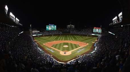 The Cleveland Indians and Chicago Cubs play in