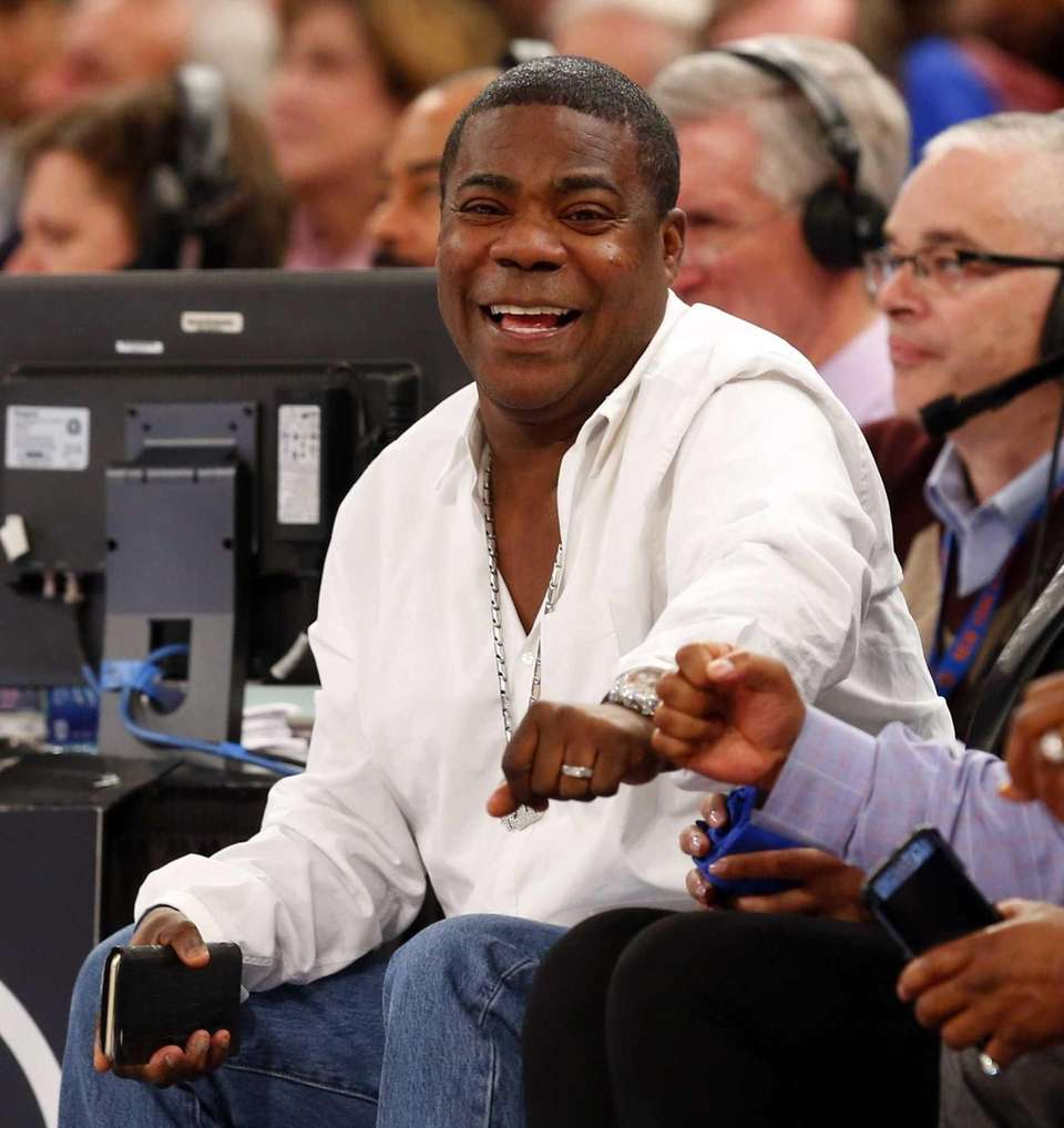 Tracy Morgan attends a game between the New