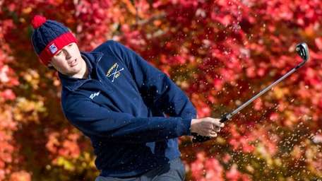 Pat Ruffone from Northport competes at the Suffolk