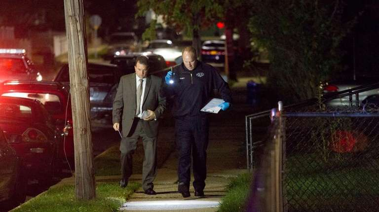 Nassau police in Roosevelt investigate a shooting Monday