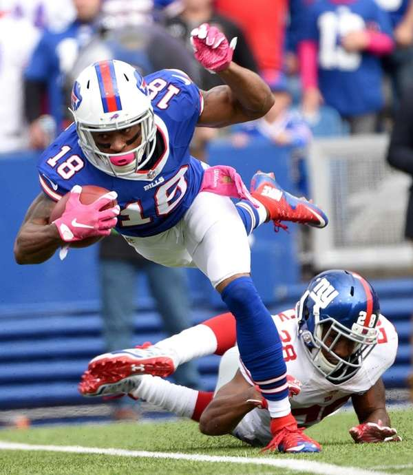 Buffalo Bills wide receiver Percy Harvin (18) is