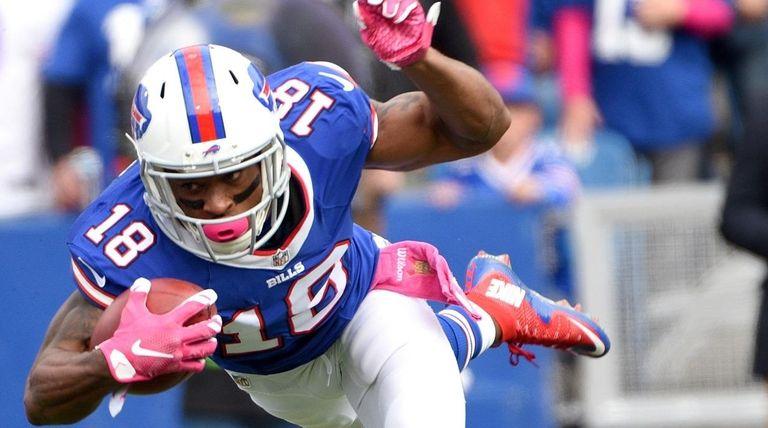 Buffalo Bills wide receiver Percy Harvin (18) is