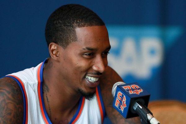 Brandon Jennings at New York Knicks Media Day