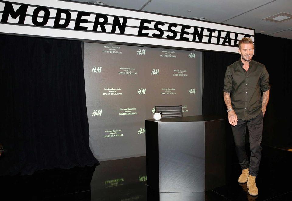David Beckham attends the launch of David Beckham's