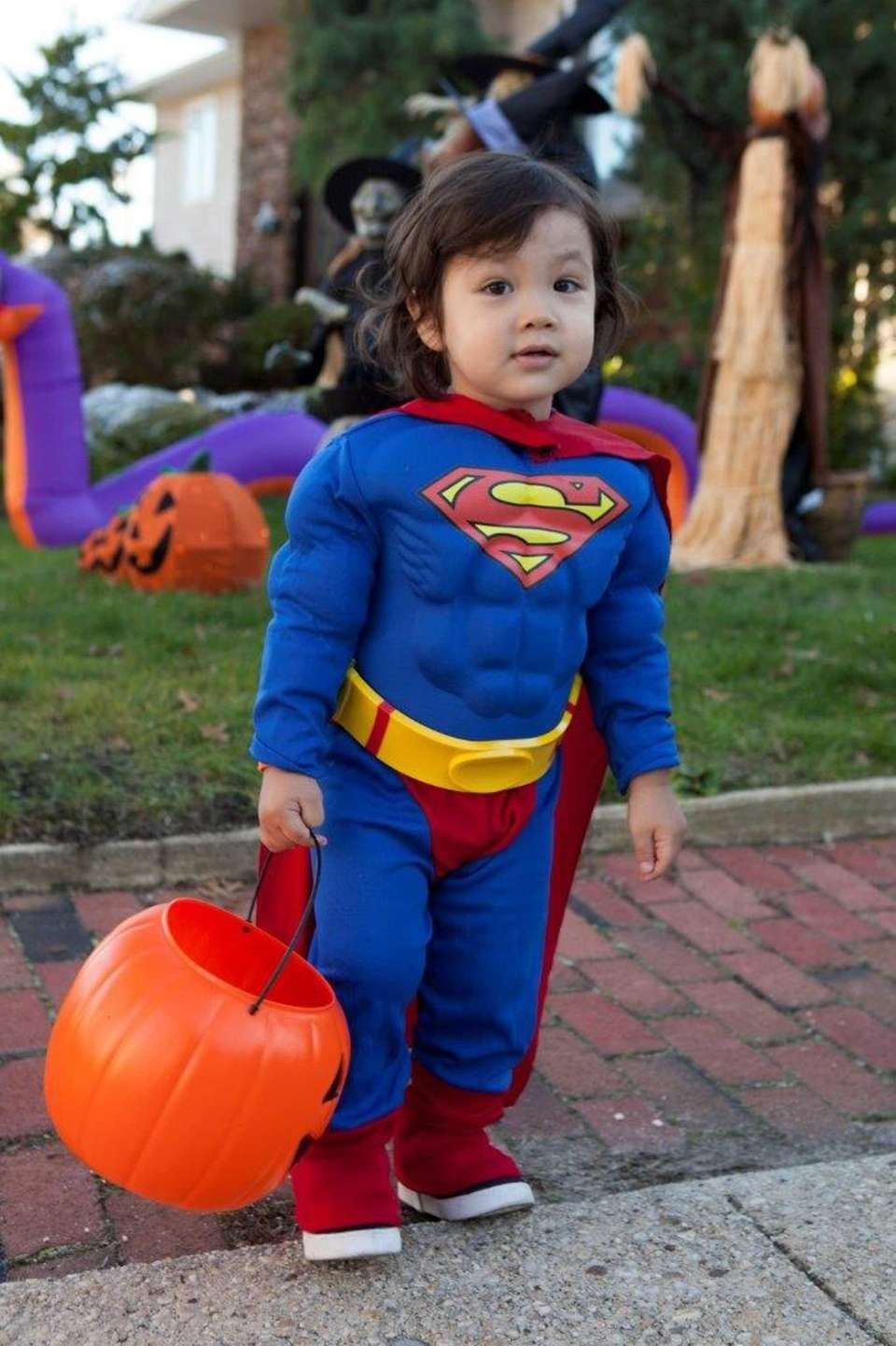 Our son Alex on his first Halloween in