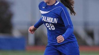 Kathryn Healy #28 of Calhoun moves the ball