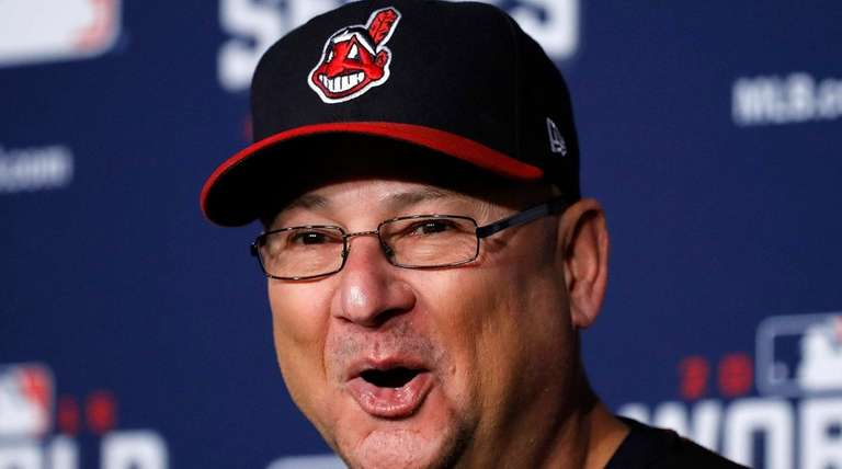 Cleveland Indians manager Terry Francona talks during a