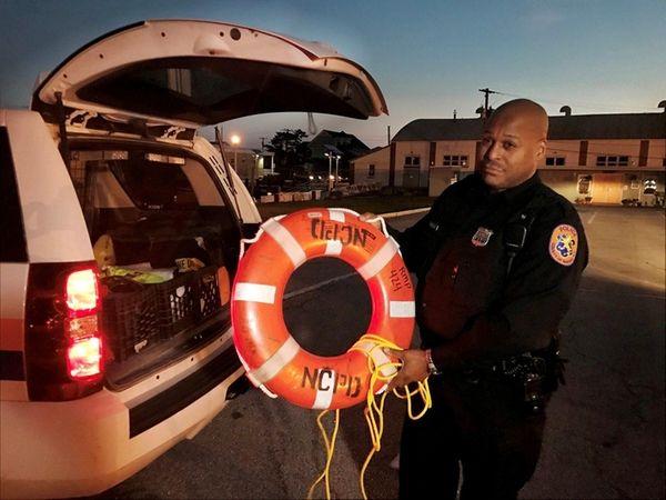 Nassau County Police Officer Kerwin Bradley of the