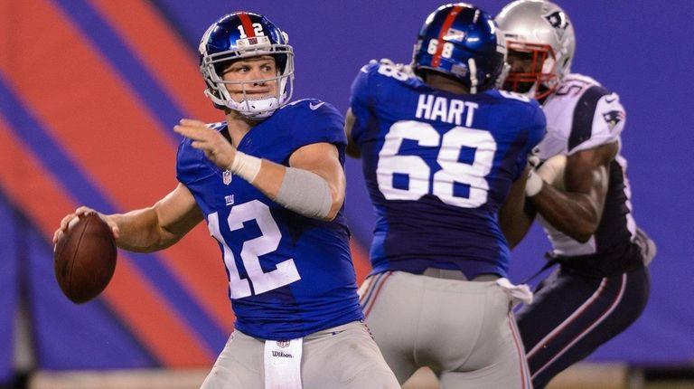New York Giants quarterback Ryan Nassib (12) during
