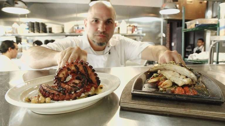 Michael Psilakis dishes up Greek food at Roslyn's
