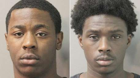 Norel Thomas, 18, left, and Taalib Quinshawn Webb-Burris,