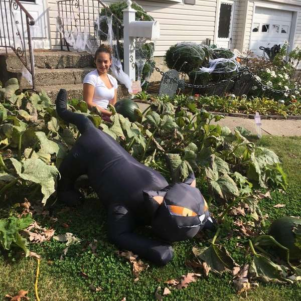 Kidsday reporter Lia McNally has her own pumpkin