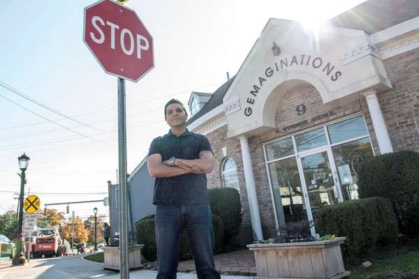 Raymond Mazza outside his jewelry store Gemaginations in