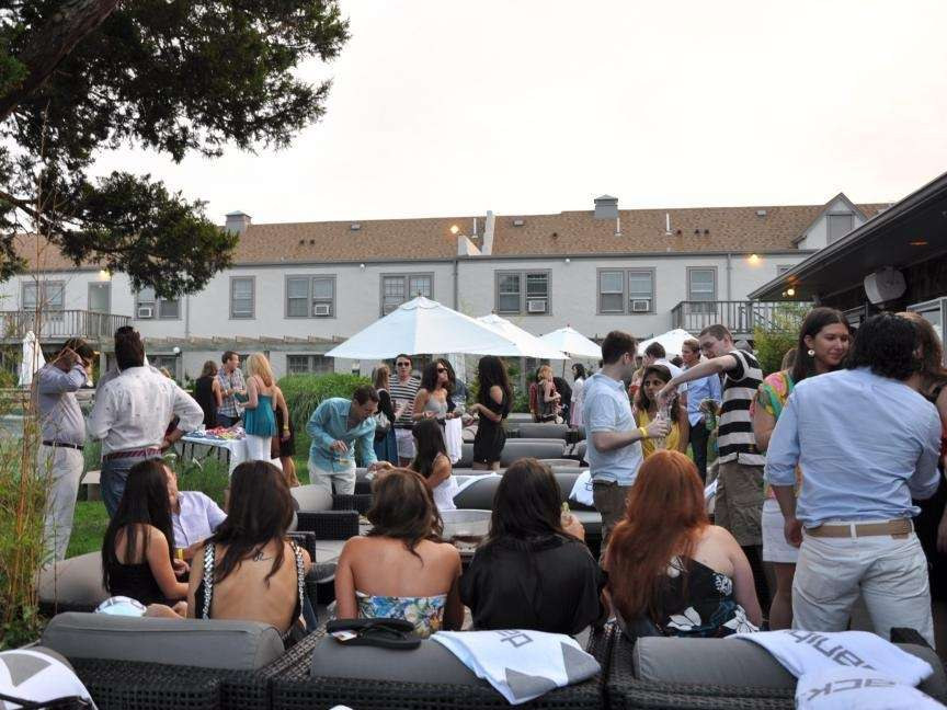 Guests enjoy the pool party vibe at Sole