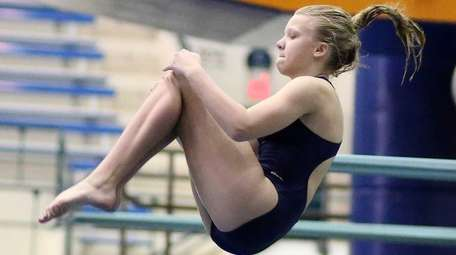 Macayla Hodkinson from Bethpage competes at the Nassau