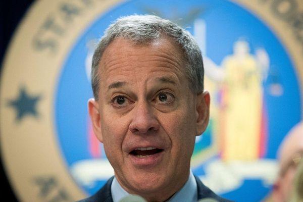 New York Attorney General Eric Schneiderman speaks during