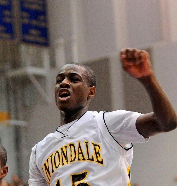 Former All-Long Island basketball player Bolade Akingboye, seen