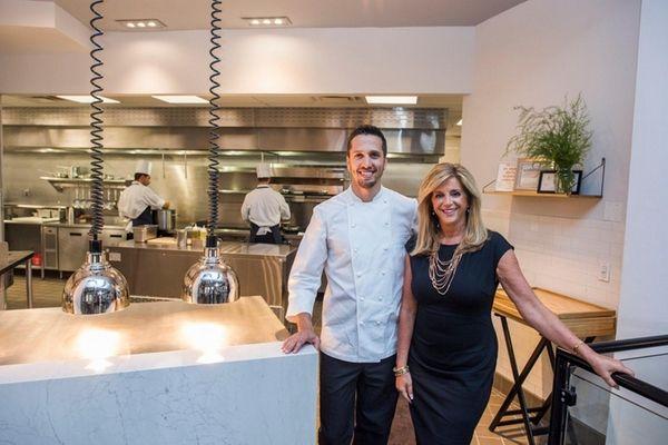 Chef Franco Sampogna and owner Joy Mangano at