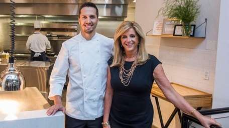 Chef Franco Sampogna and owner Joy Mangano at