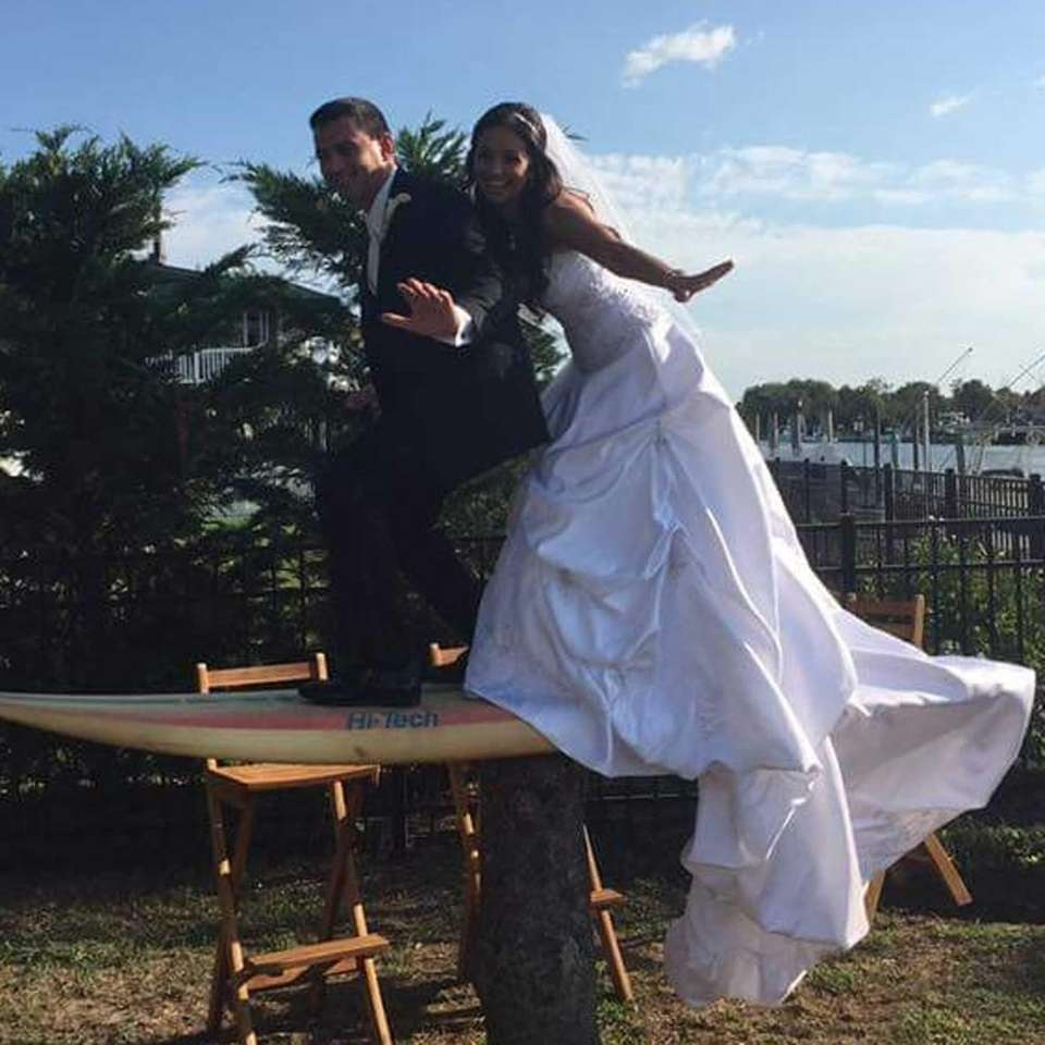 Melonie Longacre and Dominick Pernice were just married