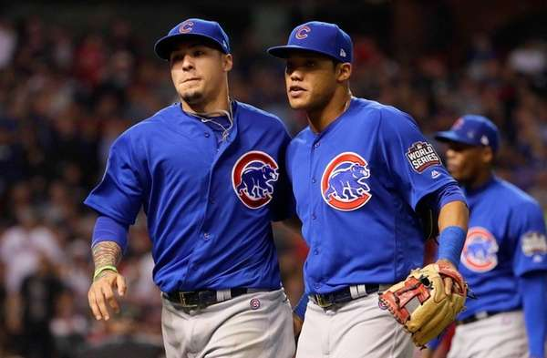 Javier Baez of the Chicago Cubs and Addison